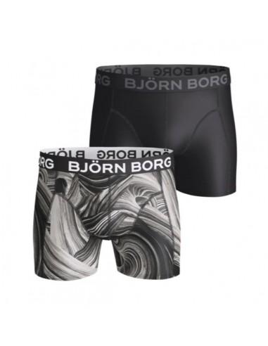 Björn Borg Boxershort Microfiber 2Pack Short BB WAVE Black Beauty Polyamide