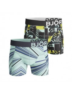 Björn Borg Boxershorts 2Pack Shorts BB FANCY SPECTRUM COURTLINE SHADE Green
