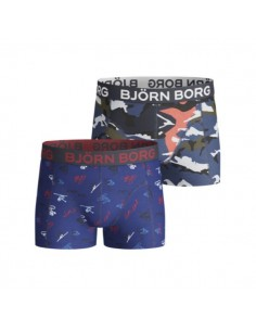 Bjorn Borg SNOWBOARD AND SHADE FIELD BOYS Shorts 2-PACK Navy