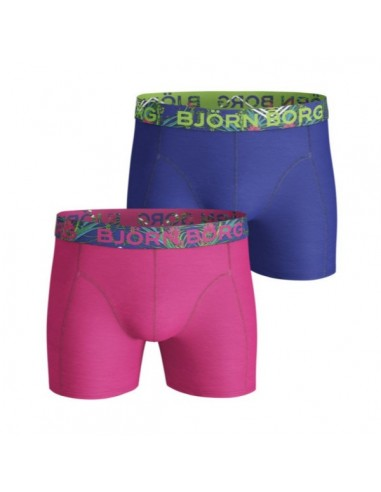 Björn Borg Boxershorts 2Pack NAITO SOLID COTTON STRETCH SHORTS Fuchsia Purple