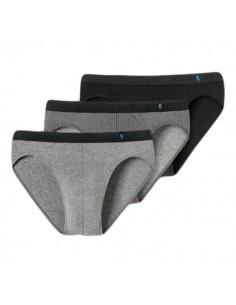Schiesser Rio Slip 3Pack grey black Stips 95/5 Slip