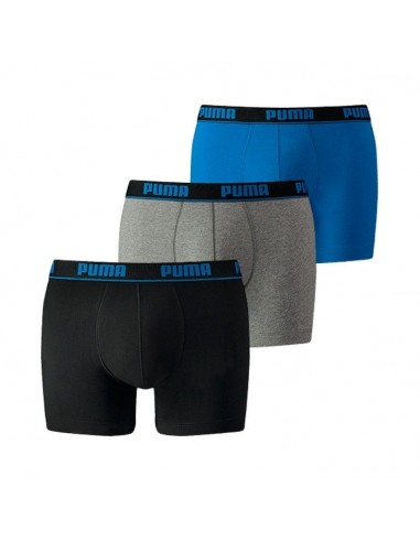 Puma Boxershort 3Pack BASIC Blue Black