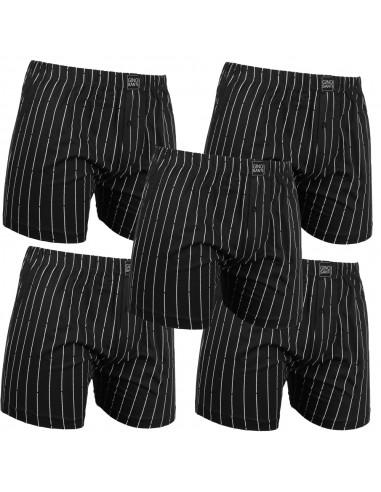 Gino Santi Klassieke boxer 5 pak Zwart Pin Stripe
