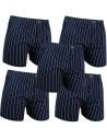 Gino Santi Klassieke boxer 5 pak Navy Pin Stripe