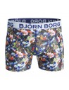 Björn Borg Boxershort Microfiber Single Pack Short BB FUNKY Crystal Blue Polyamide