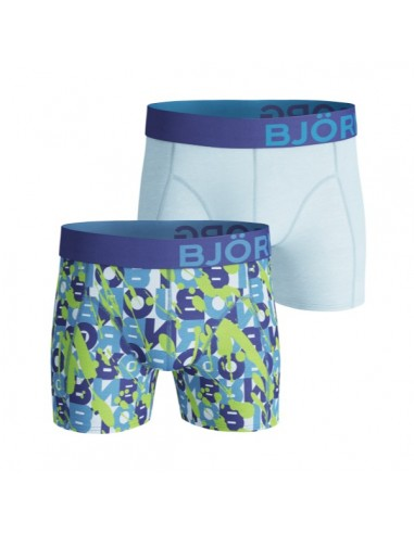Björn Borg Boxershorts 2Pack BB Vandalize Crystal blue
