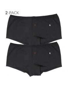 Claesens Dames Boxershorts 2Pack Zwart