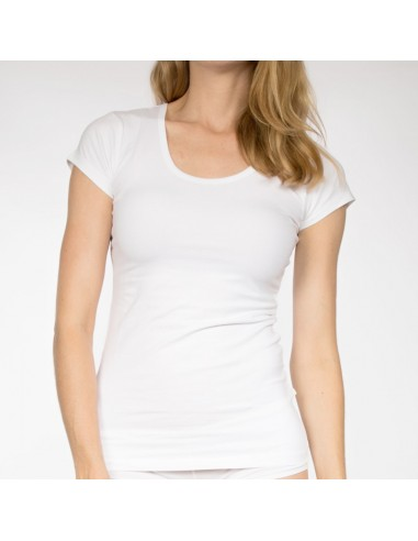 Claesens Dames T-Shirt Wit Ronde-Hals