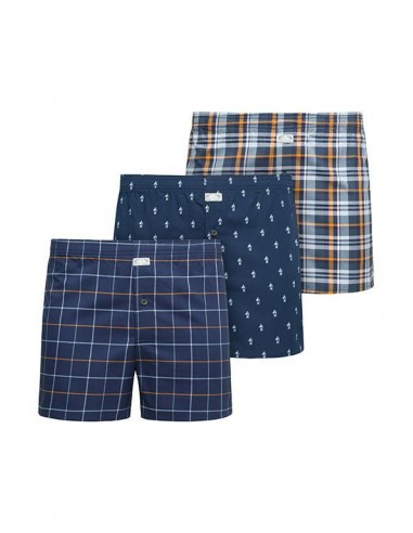 Jockey Boxershort Klassiek Woven 3Pack Expedition Unknown Dark Iris