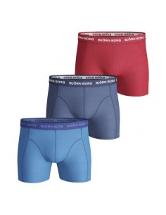 Björn Borg Short 3Pack BB SEASONAL SOLIDS Blue Aster