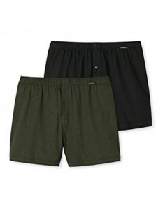 Schiesser Woven Boxershorts 2Pack Dark Green