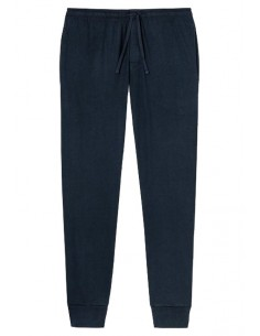 Schiesser Long Pants Lounge Broek Solid Dark Blue