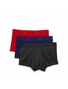 Calvin Klein Ondergoed 3Pack Blue Green Red Low Rise Trunk