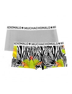 MuchachoMalo Short 2Pack ZEBRA Dames Ondergoed