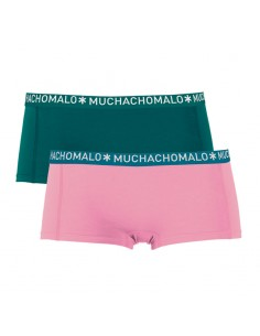 MuchachoMalo Short 2Pack SOLID Pink Petrol Dames Ondergoed