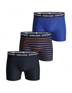 Björn Borg Boxershorts 3Pack French Stripe Blue