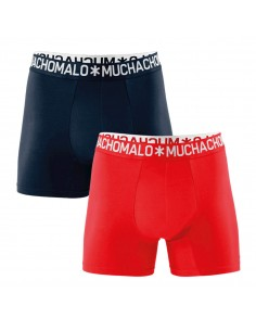 MuchachoMalo 2PACK NAVY RED COTTON SOLID Heren Boxershorts