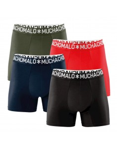 MuchachoMalo 4Pack COTTON SOLID Heren Boxershorts