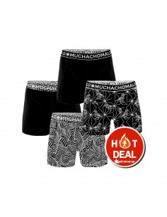MuchachoMalo 4Pack Black&White Jongens Boxershorts
