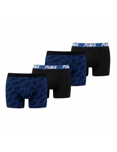 Puma Boxershort 4 pack Infinity Logo Blue Black