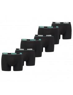 Puma Boxershort 6 pack Basic Stripe Elastic Aquarius Black