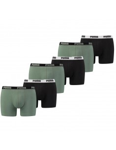 Puma Boxershort 6 pack Basic Stripe Elastic Green Black