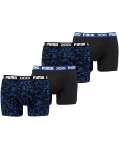 Puma Boxershort 4 pack Abstract Camo Blue Black