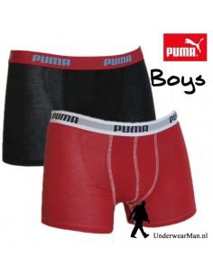 Puma Boxershort Duopak Zwart Rood Boys