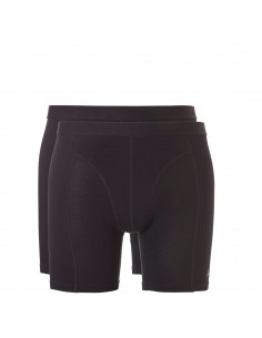 Ten Cate ondergoed Men Bamboo Long Boxershort 2Pack Zwart