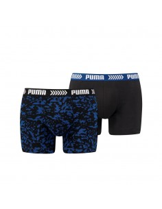 Puma Boxershort 2 pack Abstract Camo Blue Black