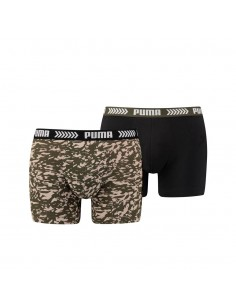 Puma Boxershort 2 pack Abstract Camo Green Black