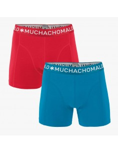 MuchachoMalo 2Pack SOLID 276 Red Blue Heren Boxershorts
