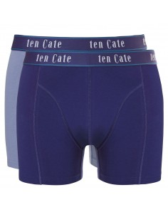 Ten Cate Men Fine Boxershort 2Pack Light Blue and Navy
