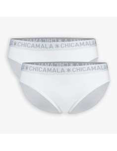 MuchachoMalo BASIC Brief Slip Wit 2Pack Dames Ondergoed