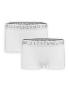 MuchachoMalo BASIC Short Wit 2Pack Dames Ondergoed