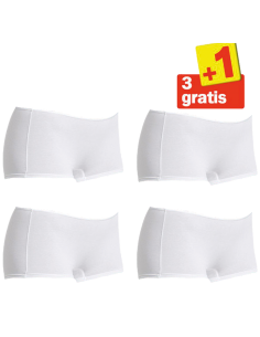 Sloggi Feel Sensational Short 02 4 pack Wit 3+1 Gratis