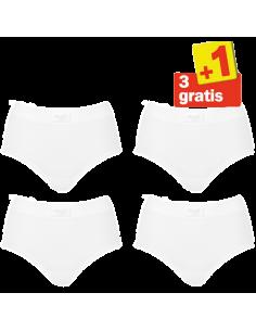 Sloggi Double Comfort Maxi 4 pack Wit 3+1 Gratis