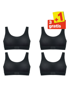 Sloggi Double Comfort Top 4 pack Zwart 3+1 Gratis