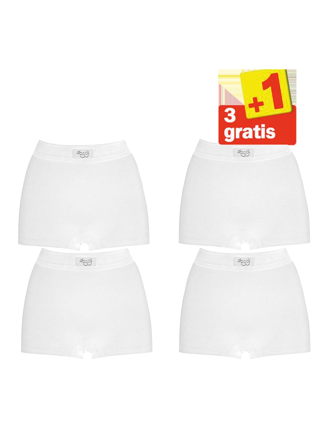 e524005f608 Sloggi Double Comfort Short 4 pack Wit 3+1 Gratis