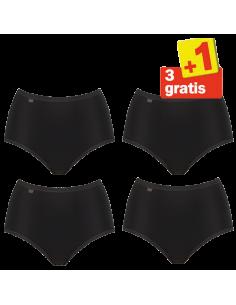Sloggi Evernew Maxi 4 pack Zwart 3+1 Gratis