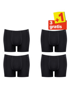 Sloggi Men Basic Soft Short 4 pack Zwart 3+1 Gratis