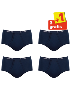 Sloggi Men Basic Maxi 4 pack Blauw 3+1 Gratis