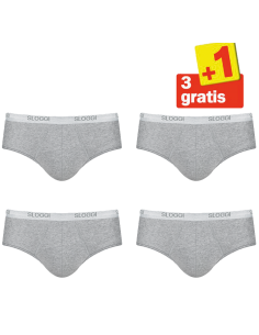 Sloggi Men Basic Midi Grijs 4Pack, 3+1 gratis