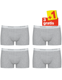 Sloggi Men Basic Short 4pack Grijs 3+1 Gratis