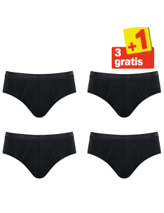 Sloggi Men Evernew Midi 4 pack Zwart 3+1 Gratis