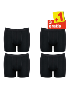 Sloggi Men Evernew Short 4 pack Zwart 3+1 Gratis