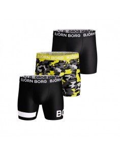 Björn Borg Boxershorts Microfiber 3Pack Performance Active Boot Camp CAMO
