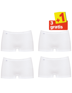 Sloggi Basic Short 4 pack Wit 3+1 Gratis