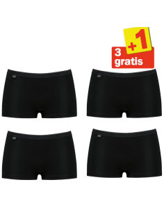 Sloggi Basic Short 4 pack Zwart 3+1 Gratis