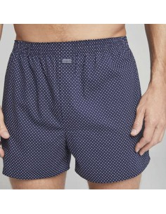 Jockey Boxershort Klassiek Woven Dark Navy Dots